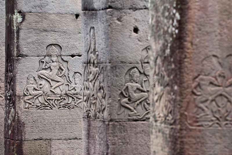 Bayon Temple Apsara Carving