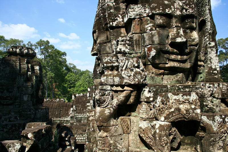 Bayon Temple, Cambodia royalty free stock images