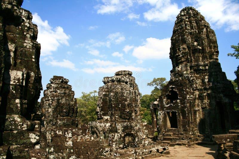Bayon Temple, Cambodia royalty free stock photography