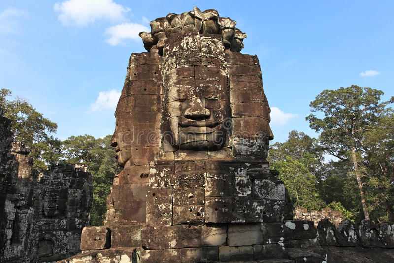 Bayon Temple in Cambodia stock images