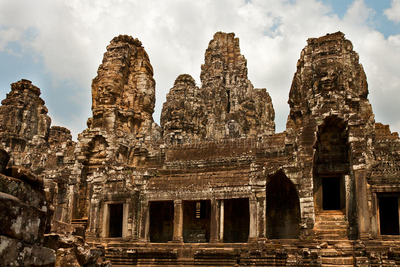 Download Bayon temple, Cambodia stock photo. Image of asia, tourism - 36162198