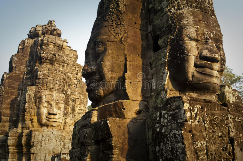 Download Bayon Temple Faces stock image. Image of faces, religion - 32885881
