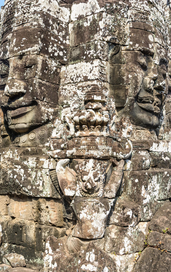 Bayon temple in siem reap,cambodia royalty free stock images