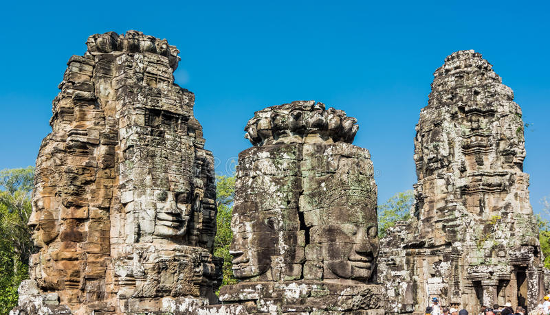 Bayon temple in siem reap,cambodia stock image