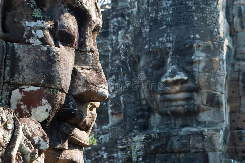 Download Bayon temple tower faces 2 stock photo. Image of religion - 9073006