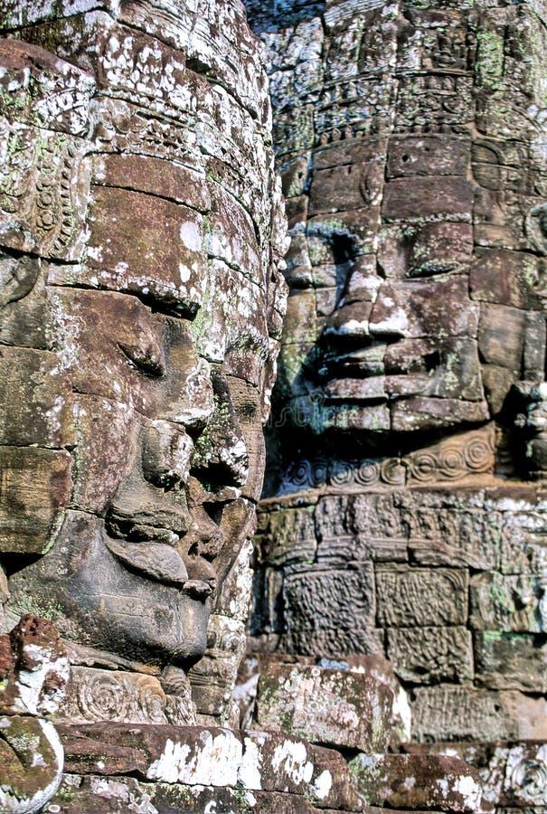 bayoncambodia tempel arkivfoton