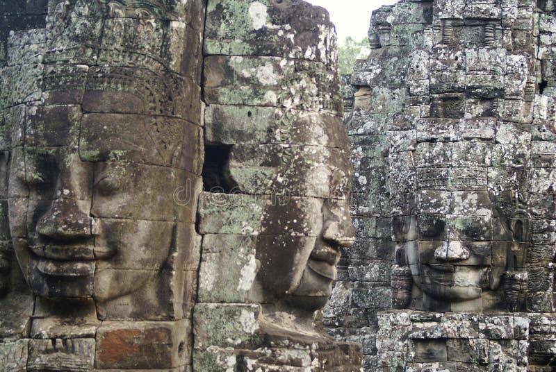 Bayonen Angkor Thom Cambodia royaltyfri fotografi