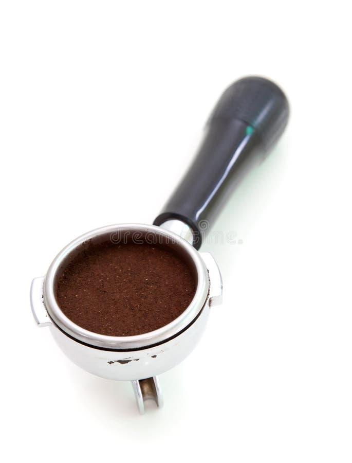 Bayoneta llenada de café express. fotografía de archivo