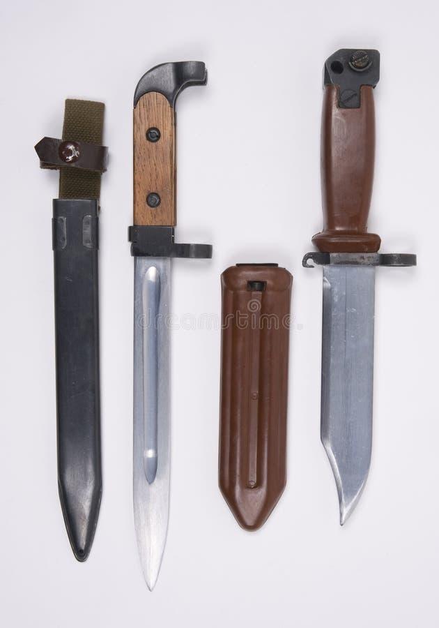 Bayonetas chinas del Kalashnikov. imagen de archivo libre de regalías