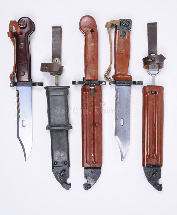 Bayonetas de AK47 imágenes de archivo libres de regalías