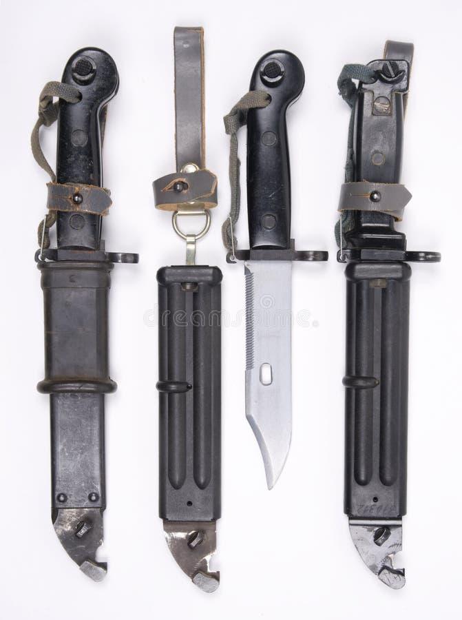 Bayonetas germanoorientales de AK47 fotografía de archivo libre de regalías