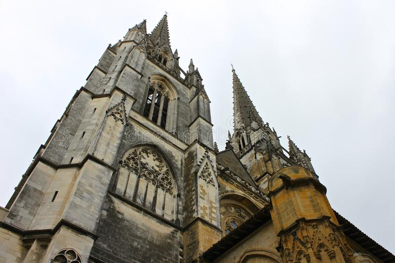 Bayonne Cathedral, France royalty free stock photos