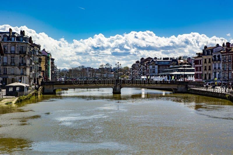 Bayonne pejzaż miejski w Baskijskim kraju obraz stock