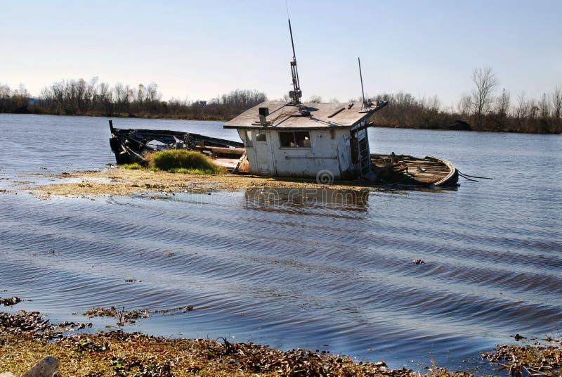 Bayou Barge stock photo