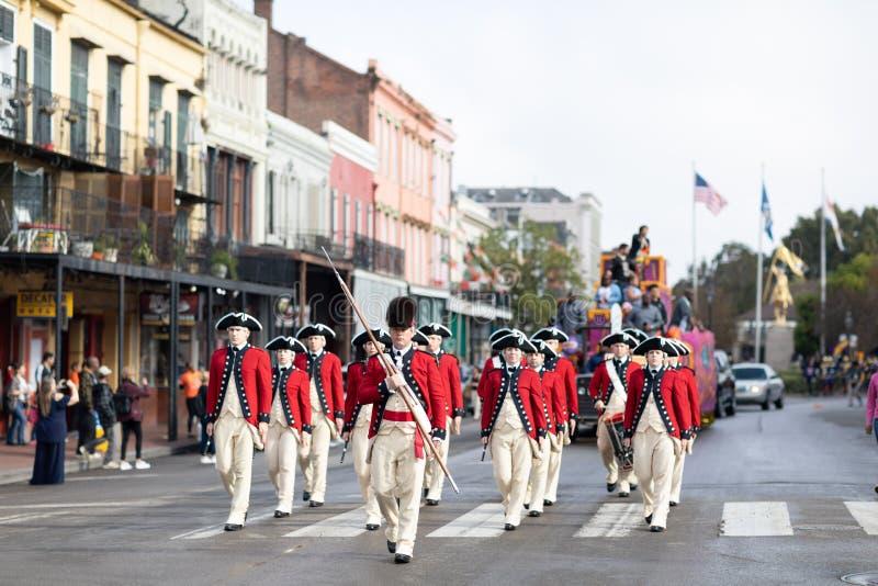 The Bayou Classic Parade 2018 royalty free stock image