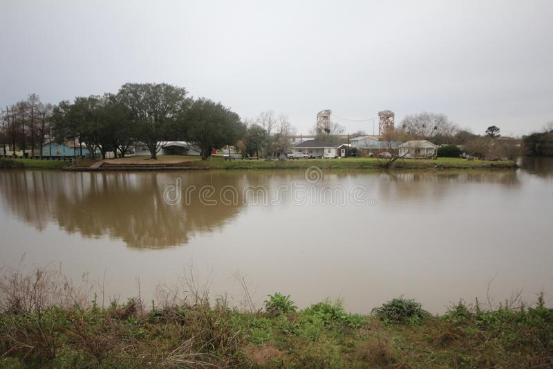 Bayou Lafourche, Luisiana imagen de archivo