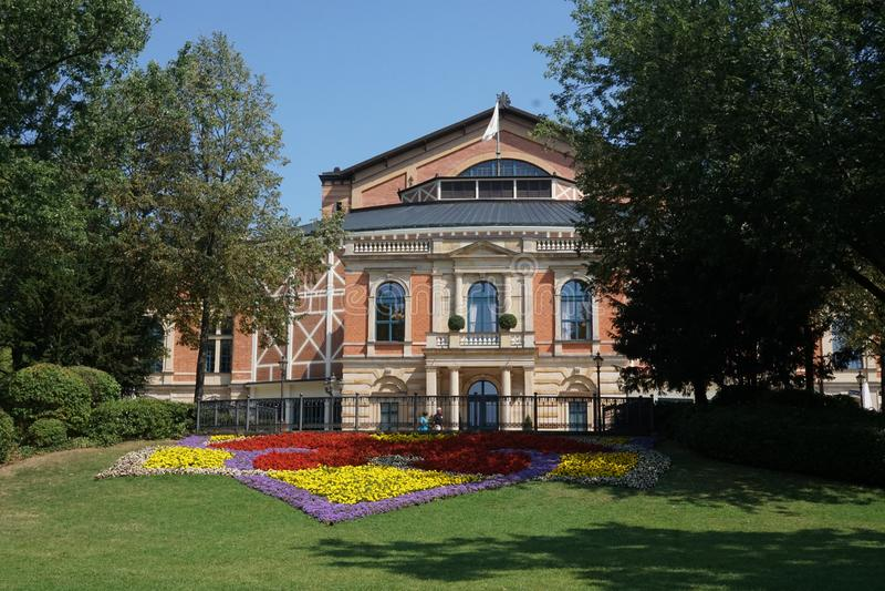 Bayreuth Festspielhaus, richard-Wagner-Festspielhaus royalty-vrije stock foto