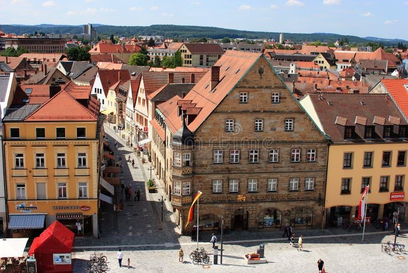 Bayreuth gammal stad royaltyfri foto