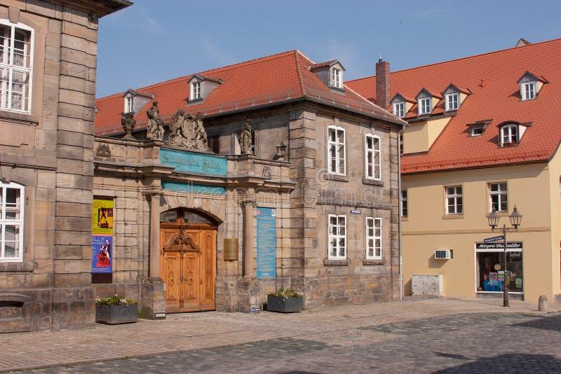 Bayreuth gammal stad - Steingraeber pianoproducent arkivfoto