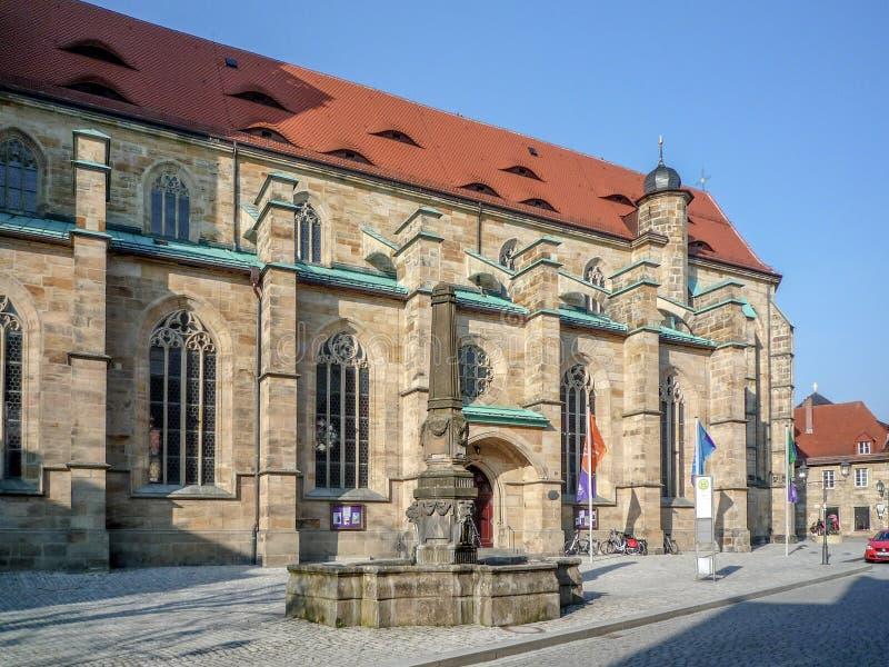 Bayreuth gammal stadkyrka royaltyfri bild