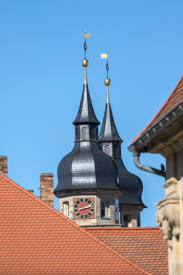 Bayreuth old town church steeple royalty free stock images