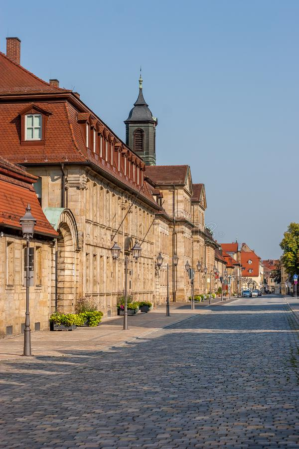 Bayreuth old town Friedrichstrasse - Baroque facades royalty free stock photos