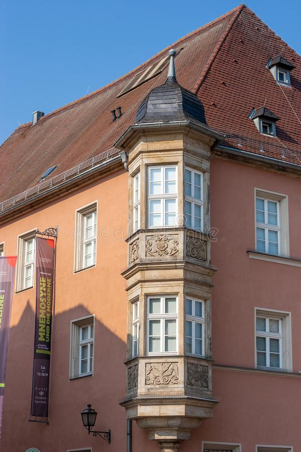 Bayreuth old town marketplace histrorical facade Maximilianstrasse stock image