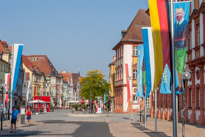 Bayreuth old town marketplace Maximilianstrasse royalty free stock image
