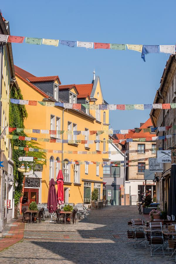Bayreuth old town Roemergasse historical facade royalty free stock image