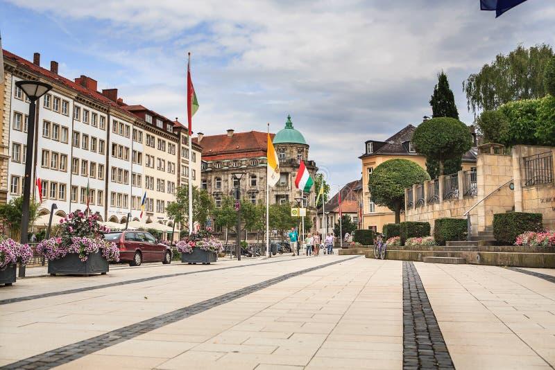 Bayreuth stad i Bayern royaltyfri foto