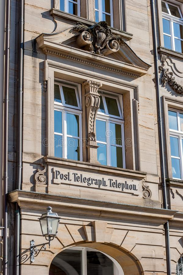 Bayreuth old town historical post station stock photography