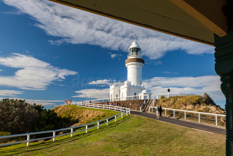 Bayron Bay lighthouse stock photography