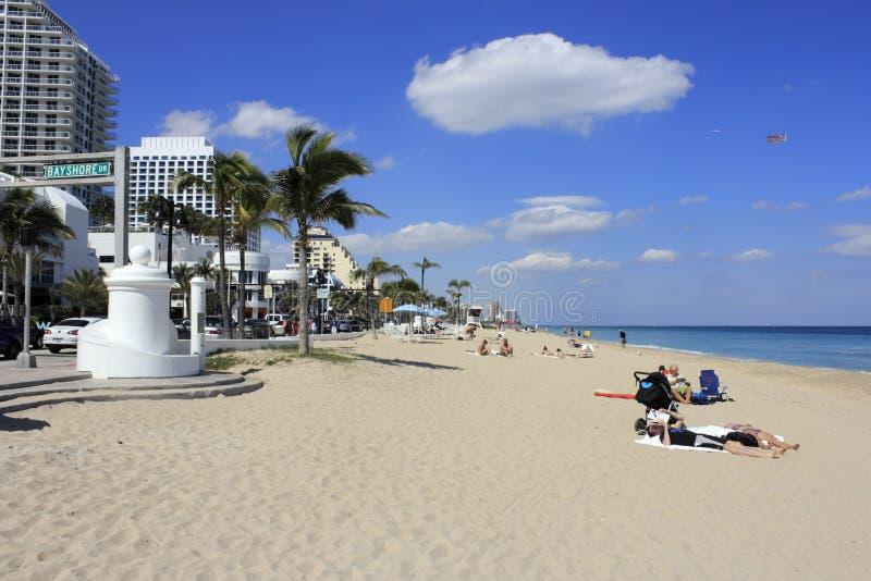 Bayshore przejażdżki plaży ludzie fotografia royalty free