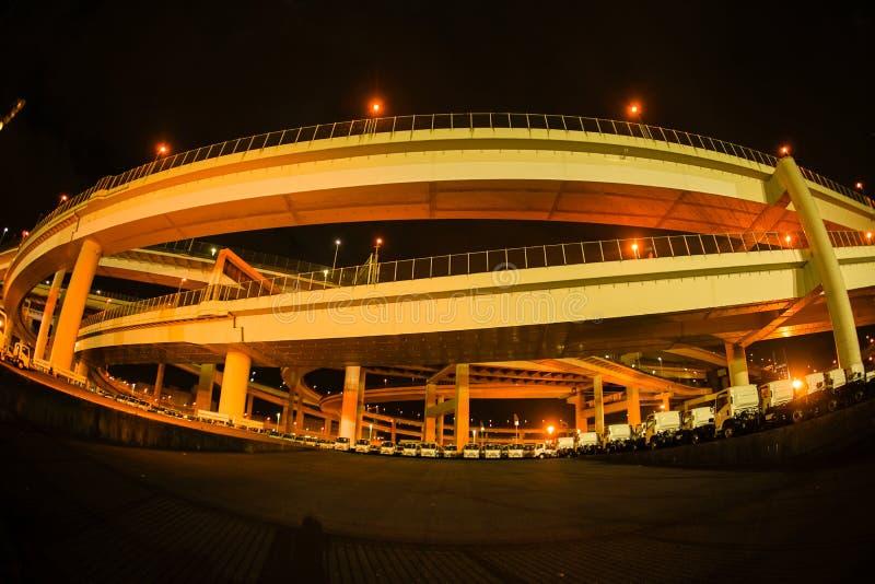 Bayshore trasy Daikoku złącze Tsurumi-ku, Yokohama miasto obraz royalty free