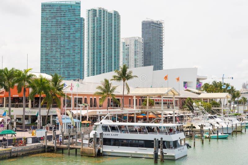Bayside市场在街市迈阿密 免版税库存照片