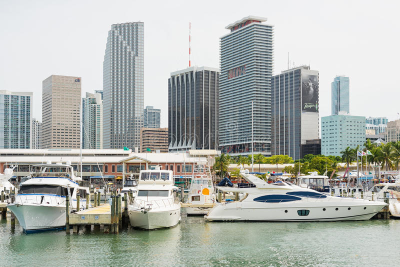The Bayside Marketplace in downtown Miami stock photography