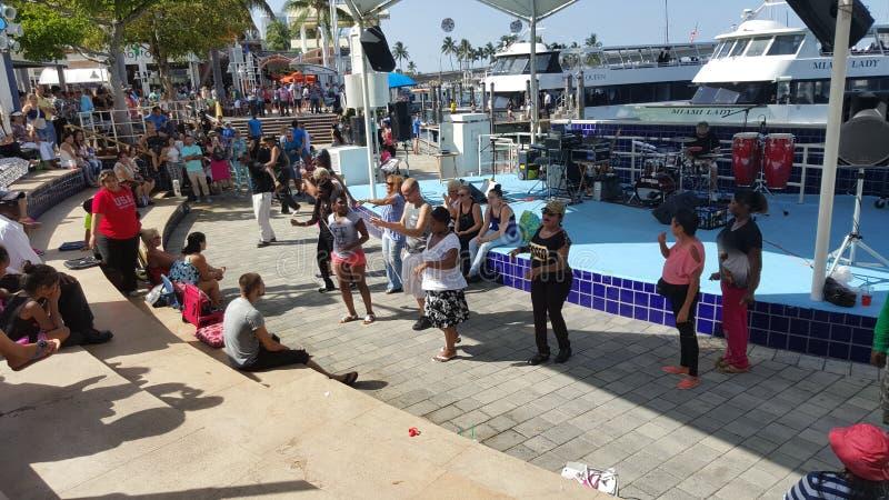 Bayside Miami (dancing) fotografie stock