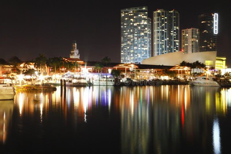Bayside, Miami Skyline stock photo