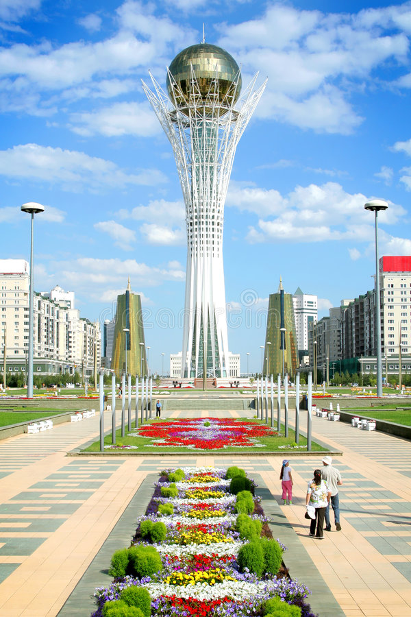 Bayterek Kontrollturm in Astana lizenzfreies stockbild