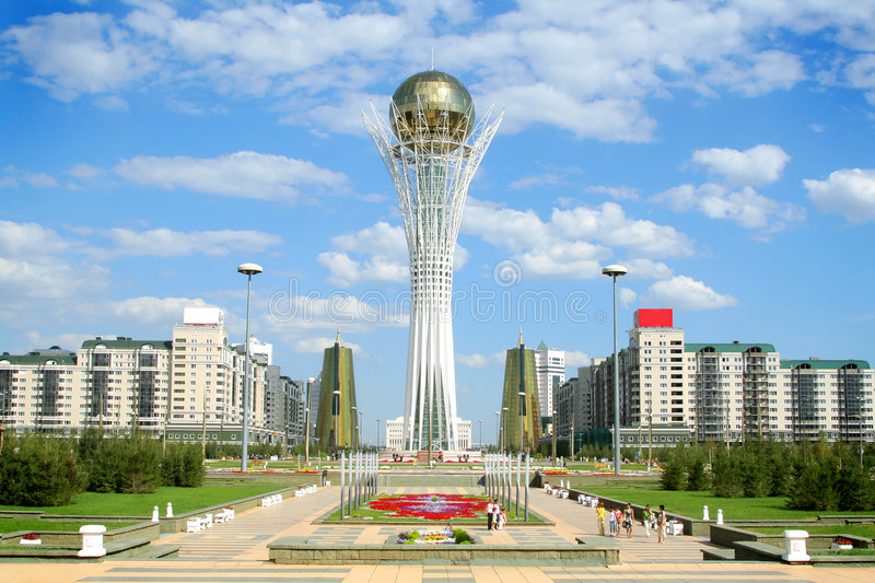 Download Bayterek Tower in Astana stock image. Image of blue, central - 6020775