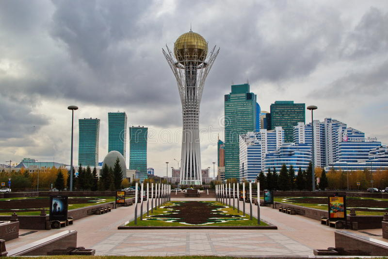 Bayterektoren Astana royalty-vrije stock afbeelding