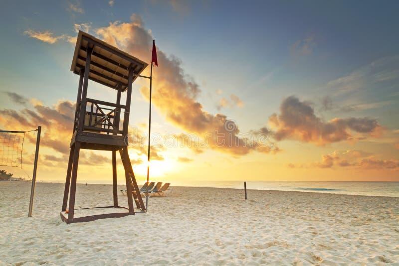 Baywatch on Caribbean sea royalty free stock photography