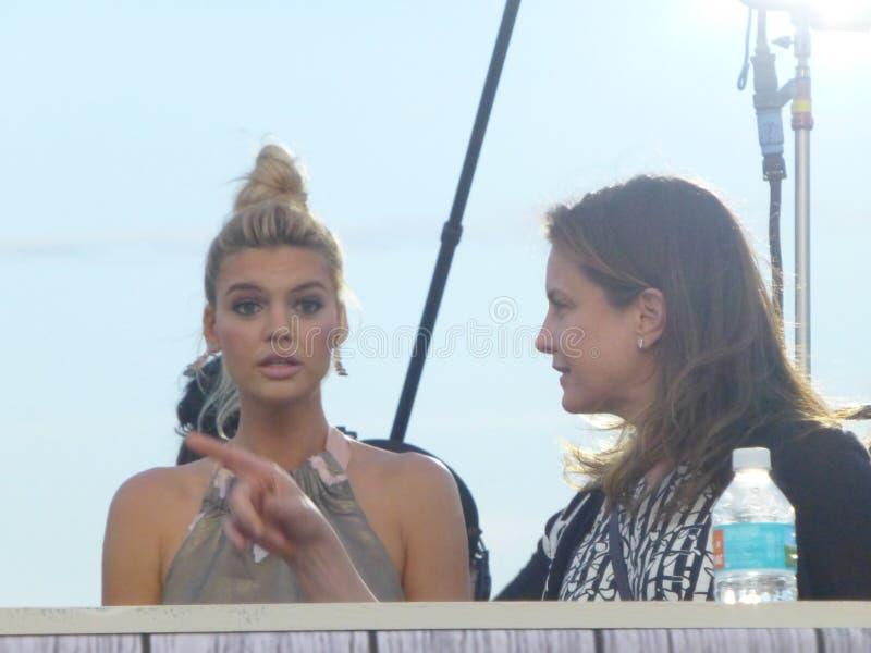 Baywatch filmu premiera Miami plaża obrazy royalty free