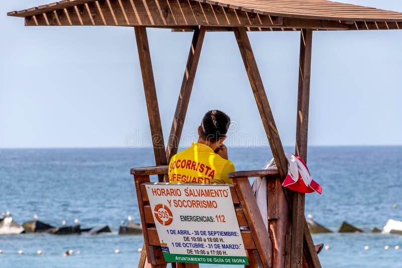 Baywatch Teneriffa Spanien stockbild