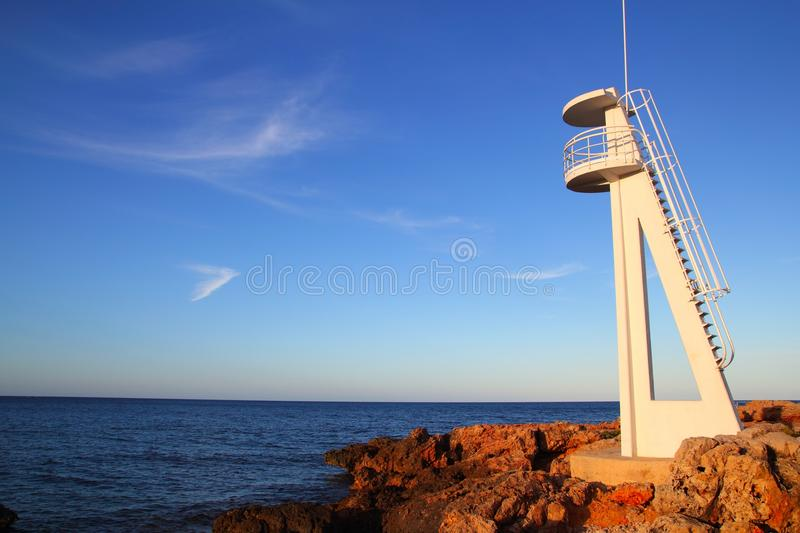 Download Baywatch White Lookout Tower In Mediterranean Stock Image - Image: 16384085