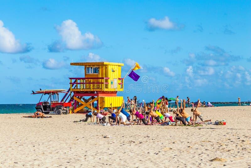 Baywatchpost bij het Strand in Zuidenstrand Miami Florida royalty-vrije stock foto