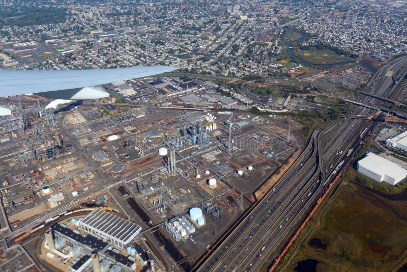 Bayway-Raffinerie in Elizabeth, New-Jersey, USA stockfotos