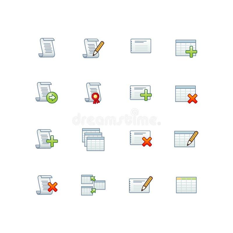baz danych ikon projektu ilustracja wektor