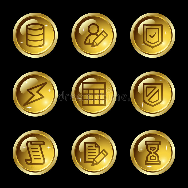 baza danych ikon sieć royalty ilustracja