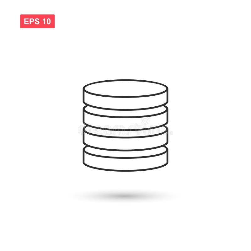 Baza danych pomocniczej ikony wektorowy projekt odizolowywał 5 zdjęcie stock